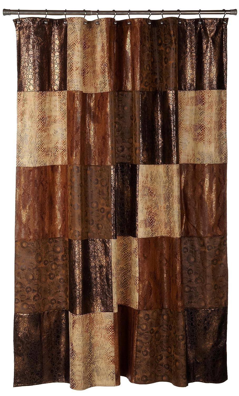 bathroom shower curtain fabric zambia multi animal print