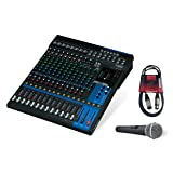 Yamaha MG16XU 16-Channel Mixing Console Bundle with Pure Resonance Audio UC1S Microphone and Microphone Cable (Tamaño: 16 Channel (with Microphone))