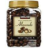 Kirkland Signature Milk Chocolate Roasted Almonds 3 LBS (48 Oz) JAR