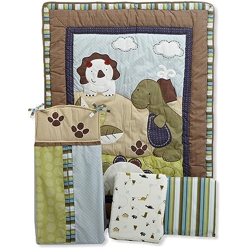 CoCo & Company Chomp N Stomp 4 Piece Crib Bedding Set
