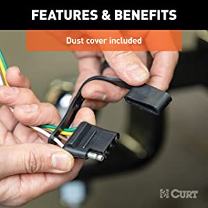CURT 55361 Vehicle-Side Custom 4-Pin Trailer Wiring Harness ... on