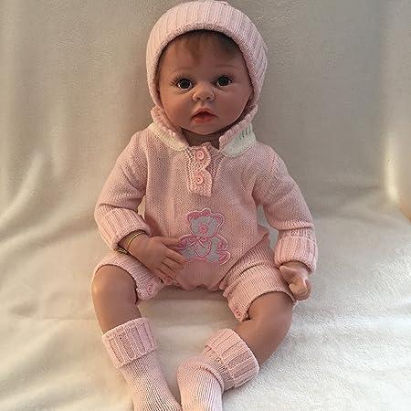 NPK 22inch 55cm Réaliste Reborn bébé poupée silicone Nouveau-né En toute sécurité vivant bébé Convient Aux Enfants de Plus de 3 ans