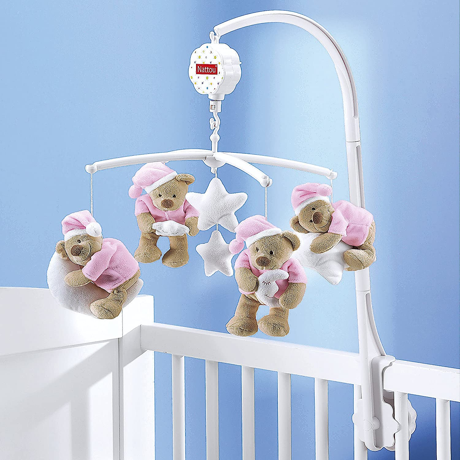 Bebes mobile nattou mobile musical dream bear de lit b b - Mobile musical bebe fille ...