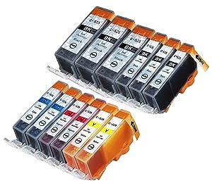 12 Multipack de alta capacidad Canon CLI-521 , PGI-520 Cartuchos Compatibles 3 negro pequeño, 3 negro grande, 2 ciano, 2 magenta, 2 amarillo para Canon Pixma iP3600, Pixma iP4600, Pixma iP4700, Pixma MP540, Pixma MP540x, Pixma MP550, Pixma MP560, Pixma MP620, Pixma MP620B, Pixma MP630, Pixma MP640, Pixma MX860, Pixma MX870. Cartucho de tinta . CLI-521BK , CLI-521C , CLI-521M , CLI-521Y , PGI-520BK © 123 Cartucho  Oficina y papelería Comentarios de clientes y más información
