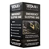 Titan Emergency Sleeping Bag/Thermal Bivy | Woodland CAMO | PE, 36