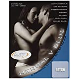 Quest Herbal V Blue Male Libido Patch Natural Remedy, 30 Count (Color: Off-white)
