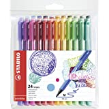 STABILO pointMax Nylon Tip Pen - Assorted Colours (Pack of 12) Pack of 24