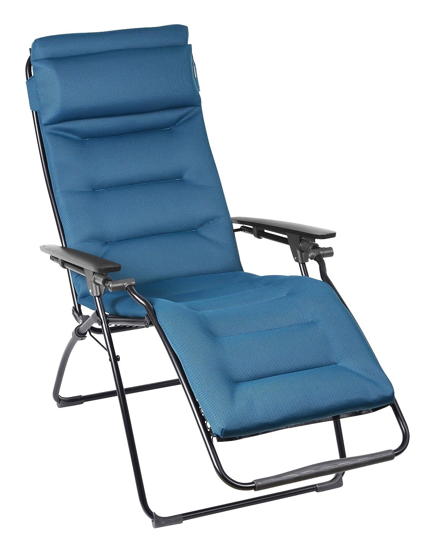 Lafuma LFM3051-6893 gepolsteter Relax-Liegestuhl, klappbar und verstellbar, Futura Air Comfort, blau online kaufen