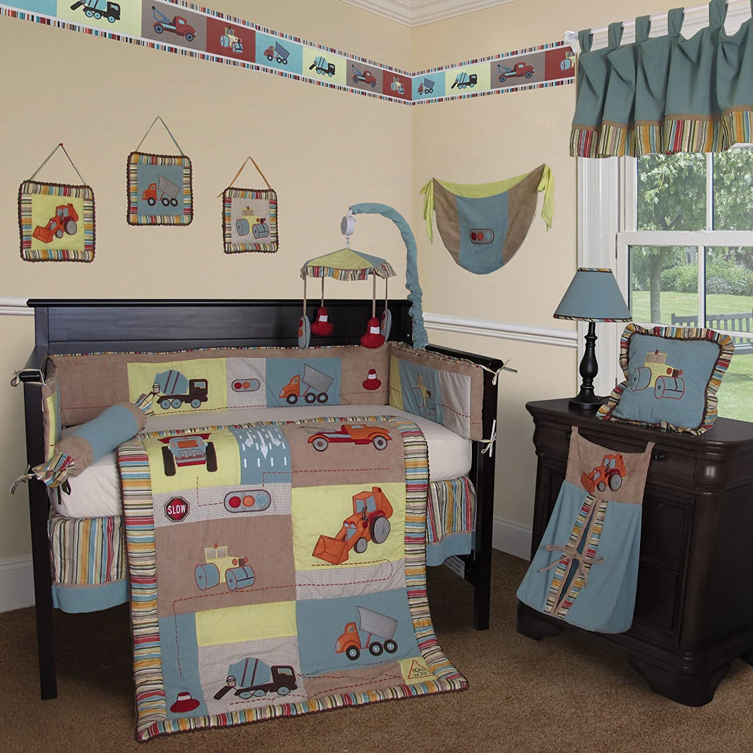 Construction crib bedding totally kids totally bedrooms kids