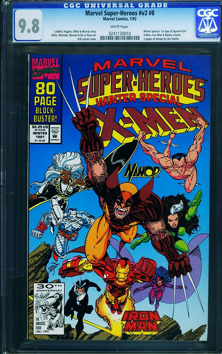 Marvel Super-Heroes Vol. 2 #8 Cgc 9.8-wp-Winter Special1991-First Squirrel Girl heroes