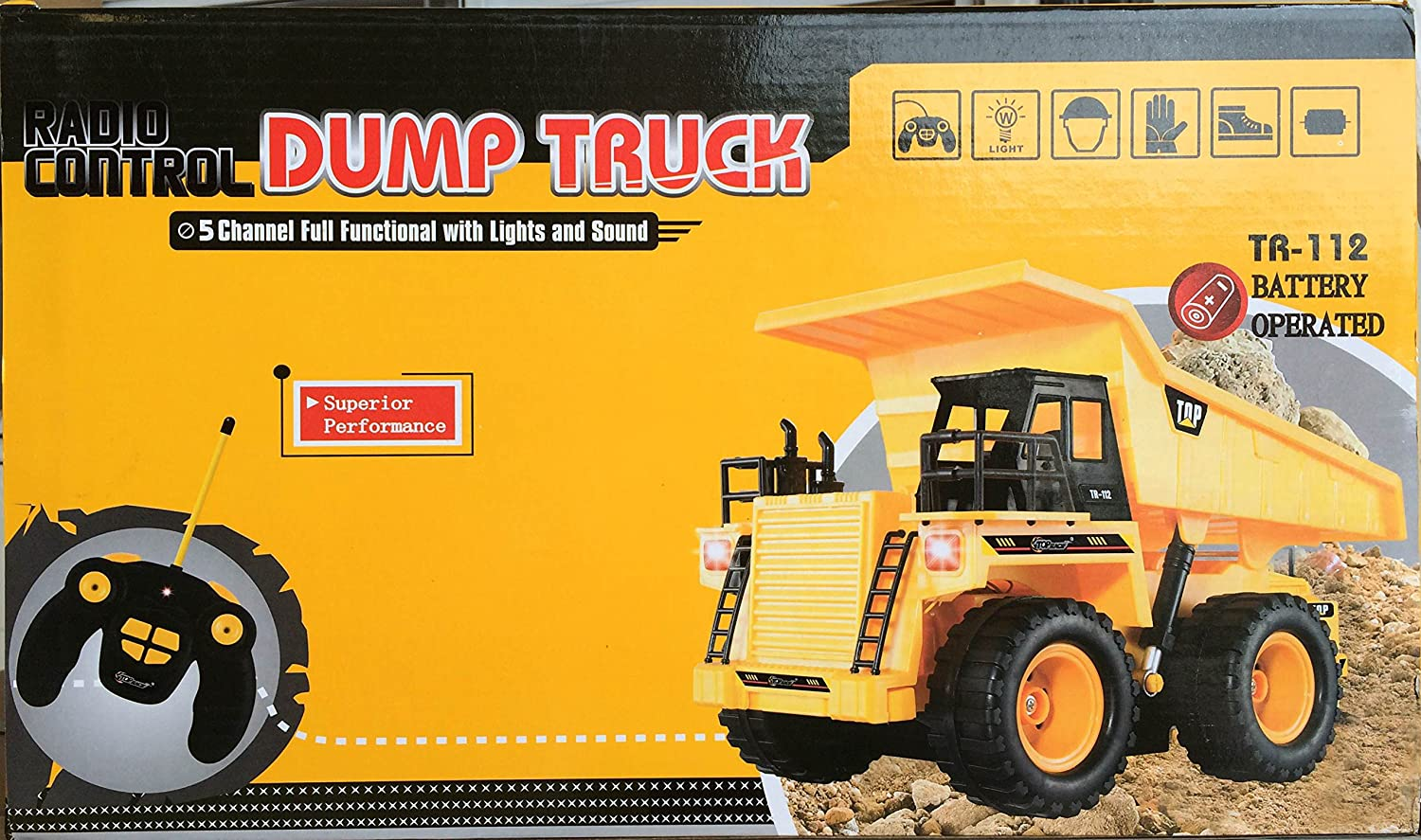 Dump Truck Control : Brand new dump truck car fully functional battery toy