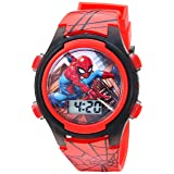 Marvel Boy's Quartz Plastic Watch, Color:red (Model: SPD3515A) (Color: Red, Tamaño: Spiderman:Red)