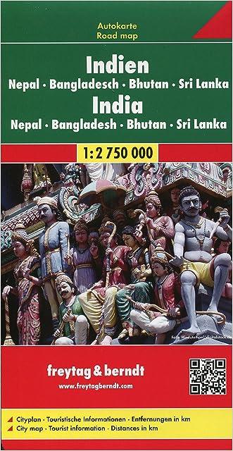 India, Bangladesh, Nepal, Bhutan, and Sri Lanka (Road Map) (English, French, Italian and German Edition)