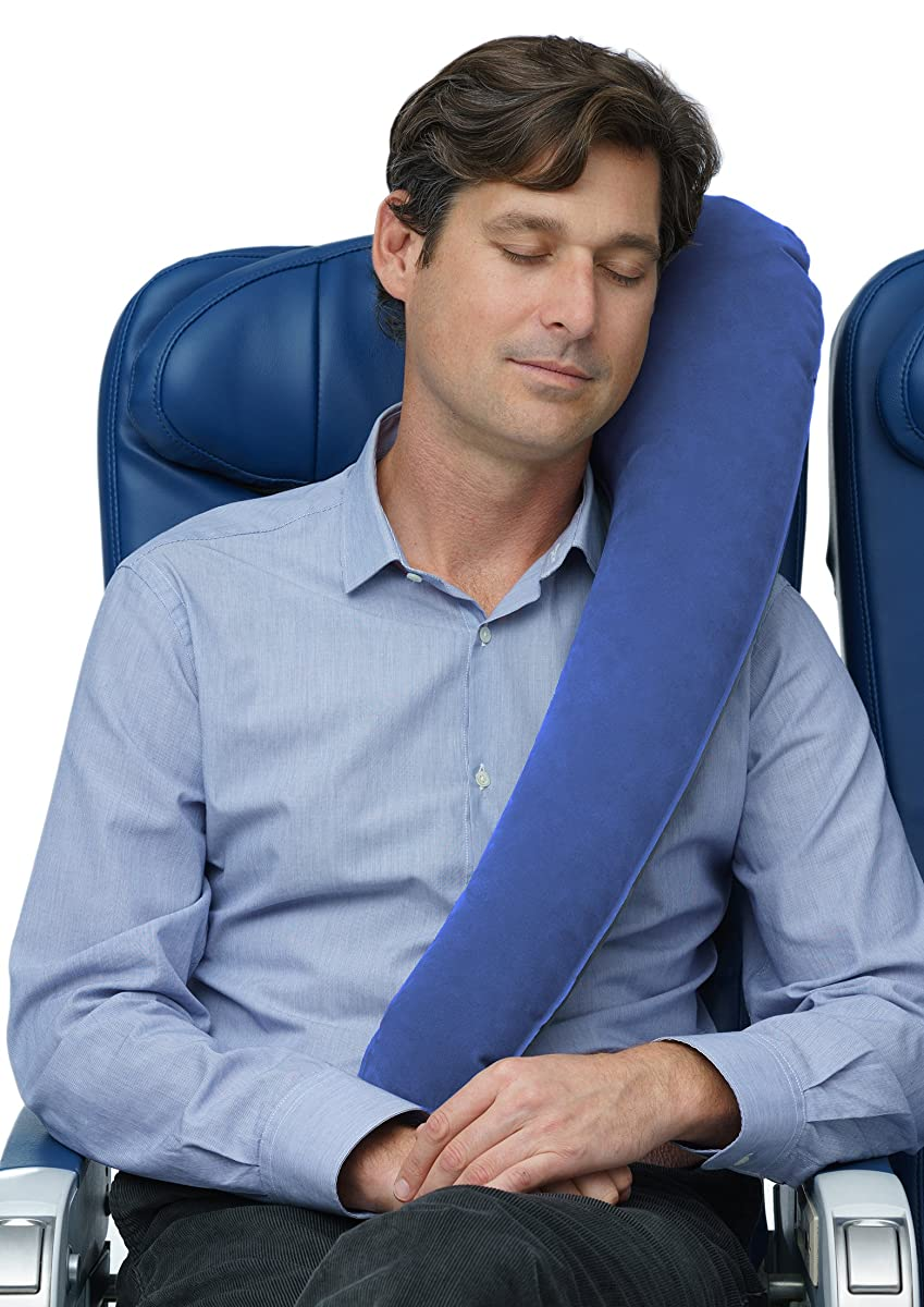 Travelrest - Ultimate Travel Pillow / Neck Pillow - Ergonomic, Patented & Adjustable for Airplanes, Cars, Buses, Trains, Office Napping, Camping, Wheelchairs (Rolls Up Small)