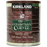 Signature 100% Colombian Coffee Supremo Bean Dark Roast-Fine Grind, 3 Pound (Color: Coffee, Tamaño: 3 Pound)