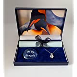 pebblez and penguinz Penguin gift box Kings of romancewith moonstone pendant (Color: Mult)