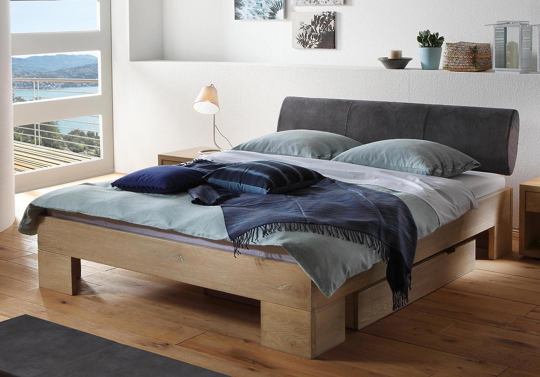 Stilbetten Bett Holzbetten Hasena Oak-Line Wild Cadro Wildeiche, weiß geölt 180×200 cm jetzt kaufen