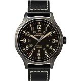 RELOJ TIMEX PARA HOMBRES - TW4B11400 Expedición Scout 43 negro con correa de cuero