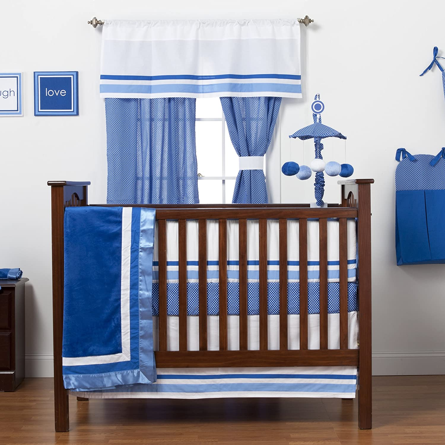 One Grace Place Simplicity Blue Crib Bedding