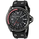 Diesel Men's DZ1760 Rollcage  Black Ip  Silicone Watch