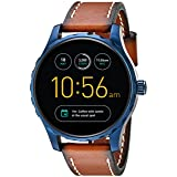 Fossil Q Marshal Gen 2 Touchscreen Brown Leather Smartwatch (Color: Blue)