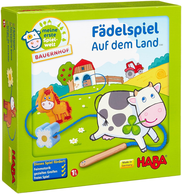 Haba 5580 – Meine erste Spielwelt Bauernhof – Fädelspiel auf dem Land günstig bestellen