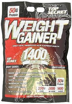Top Secret Nutrition Weight Gainer 1400 Powder, Dutch Chocolate, 10 lbs.