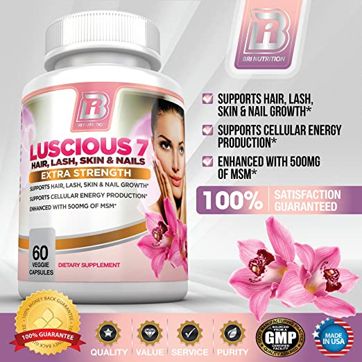 Luscious 7 - Pure and Potent Hair Growth Booster Supplement
