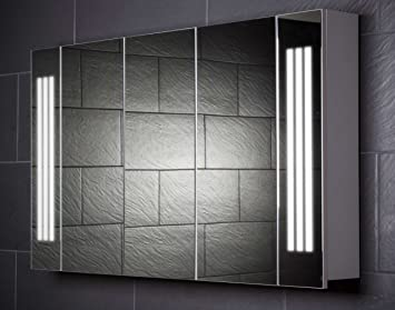 Galdem LOFT120 Bathroom Cabinet 120 CM / 3 Doors / Trendy Lighting T5 Fluorescent Lamp / Soft Close Function / Plug Socket / Badezi