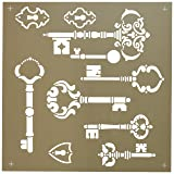 Deco Art ADS-06 Americana Decor Stencil, Vintage Keys