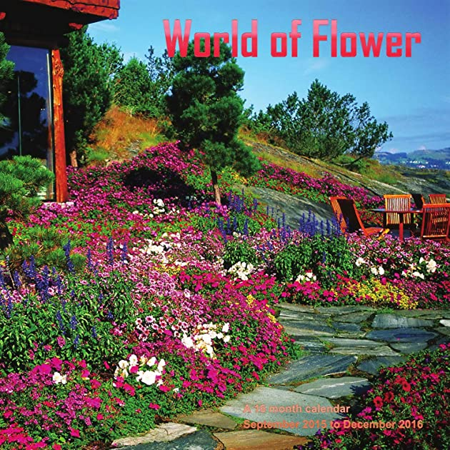 Cheapest copy of world of flowers calendar 2016 wall for Gardening 2016 calendar