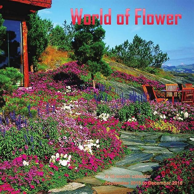 Cheapest copy of world of flowers calendar 2016 wall for Gardening 2016 calendar