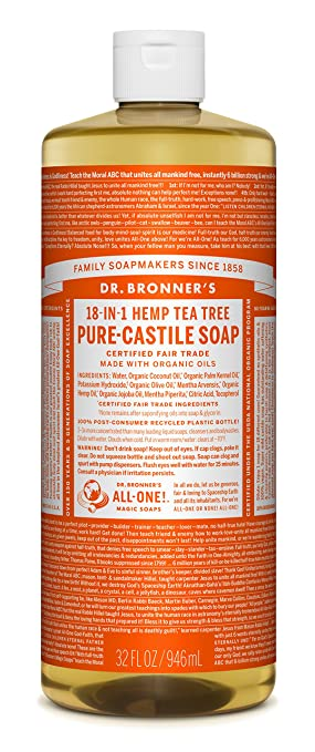Dr. Bronner's Fair Trade & Organic Castile Liquid Soap - (Tea Tree, 32 oz)