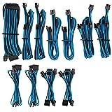 CORSAIR Premium Individually Sleeved PSU Cables Pro Kit - Blue/Black, 2 Yr Warranty, for Corsair PSUs (Color: Blue/Black)