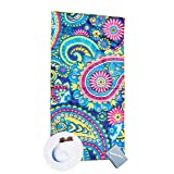 Bondi Safari Beach Towel for Travel - Microfiber, Quick Dry, Sand Free, Travel Beach Towel in Designer Paisley, Tropical & Boho Beach Towel Prints for Beach, Travel, Outdoor, Gift (Paisley, X-Large) (Color: Paisley, Tamaño: X-Large)