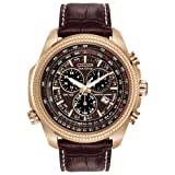 Citizen Men's Eco-Drive Chronograph Watch with Perpetual Calendar and Date, BL5403-03X (Color: Dark Brown Leather, Tamaño: NO SIZE)