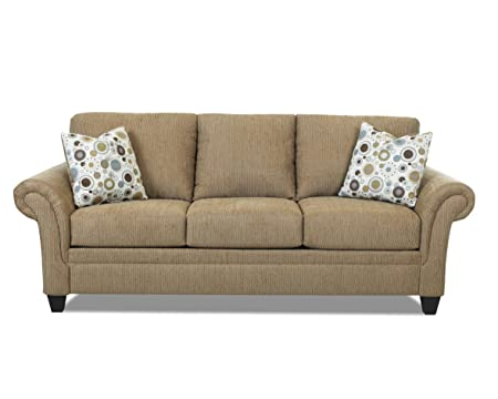 Klaussner Mocha Hubbard Sofa, 94 by 38 by 30-Inch