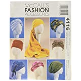 McCall's Patterns M4116 Misses' Turban, Headwrap and Caps, All Sizes