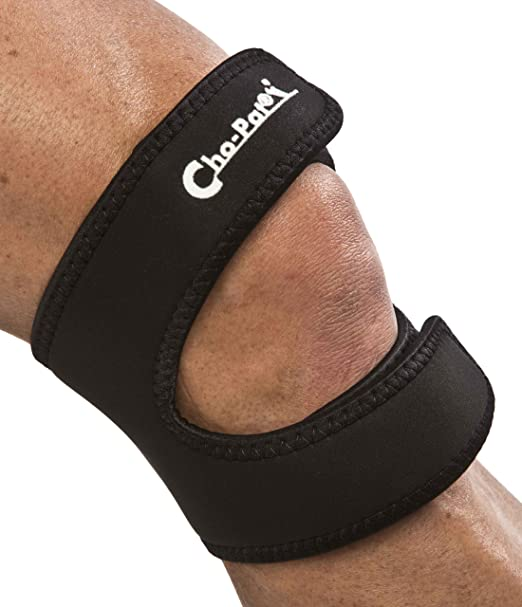 "Cho-Pat Dual Action Knee Strap - Black (Medium, 14""-16"")"