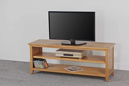 Oxford Oak large Widescreen Open backed TV Cabinet / Coffee Table …