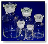 Glass Reagent Bottles: Apothecary Style