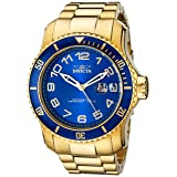 Invicta Men's 15347 Pro Diver Blue and Yellow Gold-Tone Stainless Steel Watch (Color: blue)