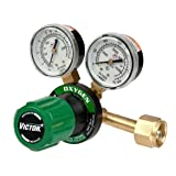 Victor Technologies 0781-9400 G250-150-540 Medium Duty Single Stage Oxygen Regulator, 150 psig Delivery Range, CGA 540 Inlet Connection