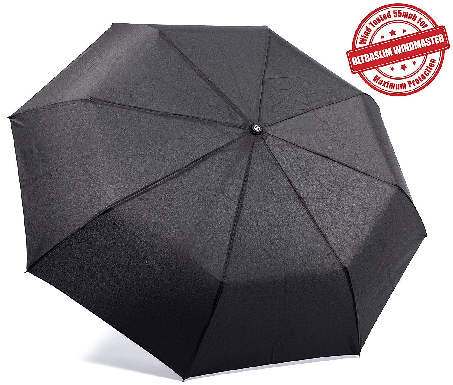 """Unbreakable"" Windproof Umbrellas Tested 55MPH Proven ""Guaranteed Lifetime Replacement"" Auto Open Close For One Hand Operation, Won"