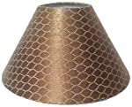 """RDC 10"""" Round Golden and Brown Designer Lamp Shade for Table Lamp"""