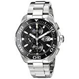 TAG Heuer Men's CAY211A.BA0927 Aquaracr Analog Display Swiss Automatic Silver Watch (Color: Black)