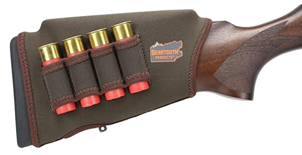 Beartooth Comb Raising Kit 2.0 - Neoprene Gun Stock Sleeve + (5) Hi-density Foam Inserts - SHOTGUN MODEL (Brown) (Color: Brown)