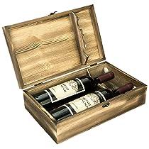 Wood Double Bottle Wine Case