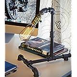 Loft Living Designer Steampunk Water Piping Desk Top Table Lamp Modern Antique Rustic Decor Steam Punk Industrial Craftsmanship Interior Design Bed Side Minimalist Victorian Edison Iron Retro Lighting