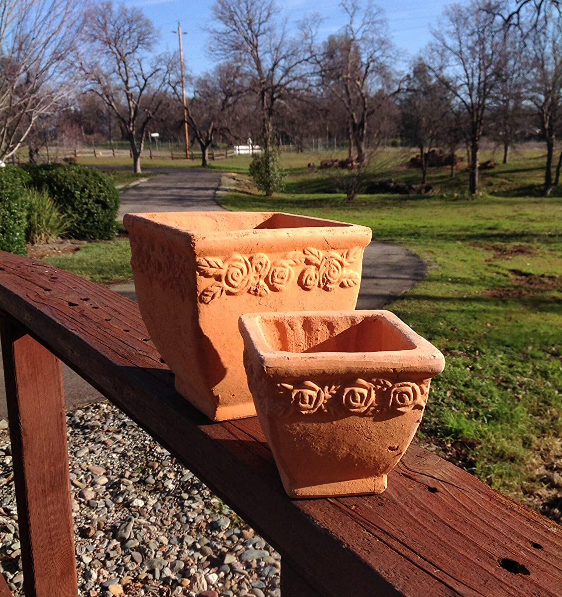 Terracotta Square Flower Planter